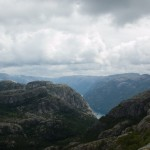 Lysefjord from above.