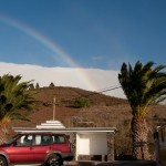 goodby rainbow when we left Los Lanos - rain on the other side… and no sun